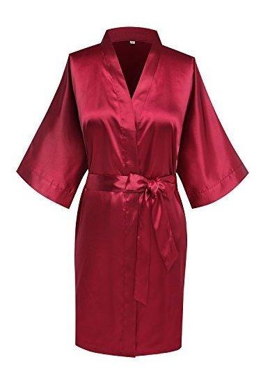 Túnicas Kimono Simplicidad Stlye Banquete Boda Dama Honor
