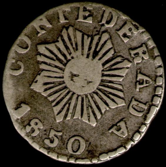 Spg Argentina Cordoba 1/2 Real 1850