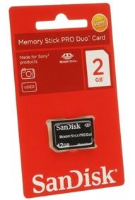Cartão De Memória Stick Pro Duo 2gb Para Câmera Sony