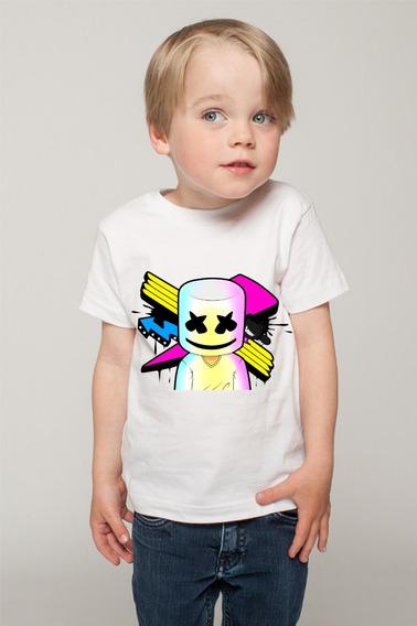1 Playera Marshmello Dj Fornite Mello Gang Niños Y Juvenil