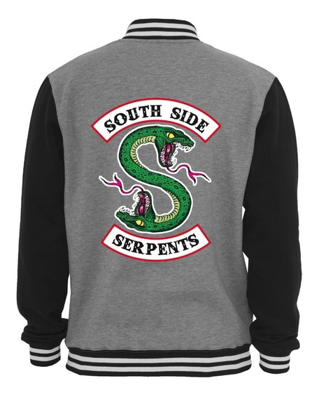 Jaqueta Riverdale Serpentes Moletom Casaco Moleton Blusa