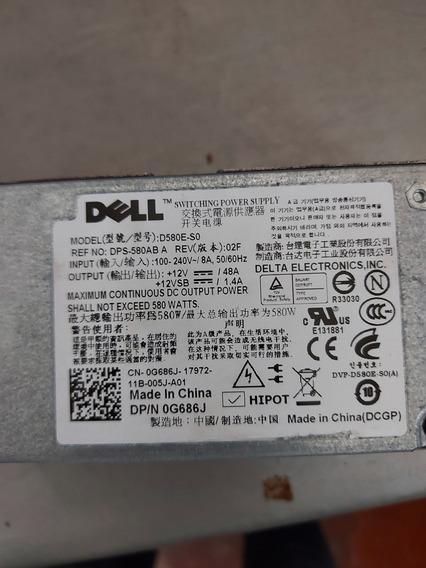 Fonte Servidor Dell T410 580w D580e-s0 0g686j 0h371j 0f5xmd