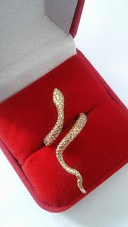 Anel Cobra De Prata 950 K Com Banho De Ouro 18k