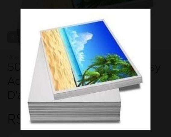 500 Folhas Papel Foto Glossy Adesivo 135g A4 Á Prova D