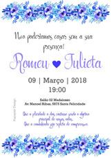 Convite, Casamento, Flores