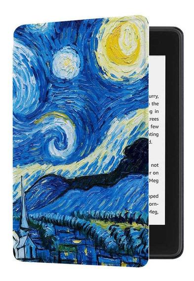Capa Novo Kindle Paperwhite 4 Hibernação Magnético Van Gogh