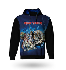 Blusa Moletom Manga Longa Iron Maiden - Casaco Frio