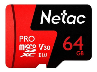 64gb U3 Netac P500 Pro Tarjeta Tf Microsd Memoria Micro Sd