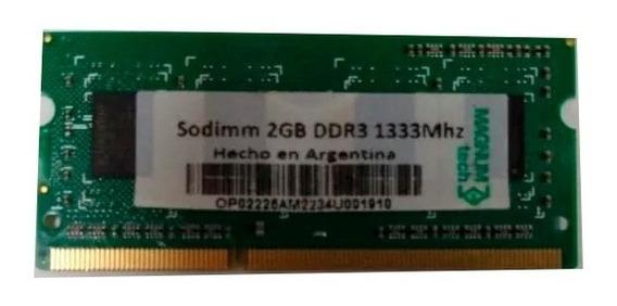 Memoria Sodimm Original Magnum Tech Ddr3 2gb 1333mhz