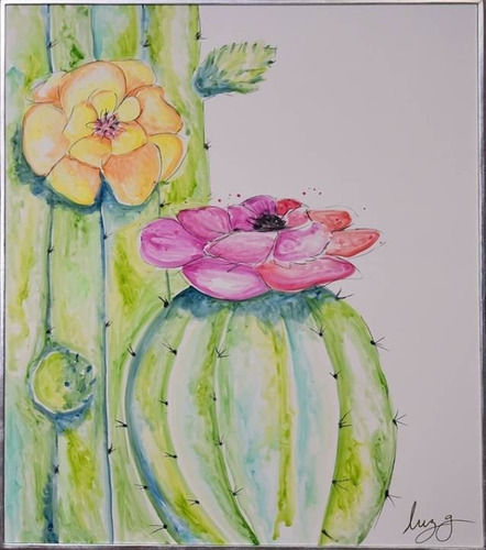Imagen 1 de 3 de Cuadro Decorativo Cactus 2 Këssa Muebles