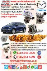 Reparacion Y Venta De Turbos Mazda Cx7 2.3 K04 Guatemala