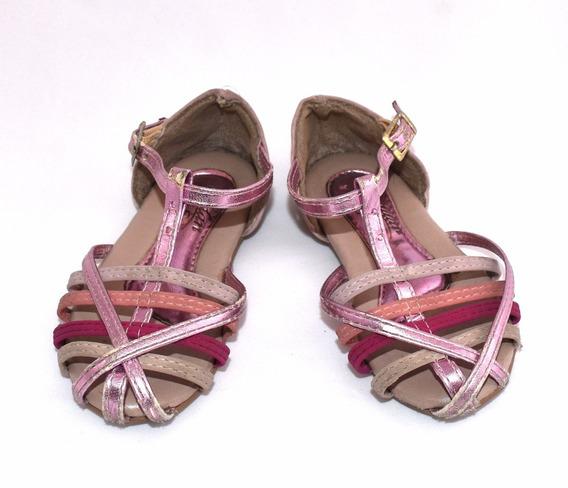 Sapato Addan Baby Rosa Courino Sola Borracha Tamanho 22