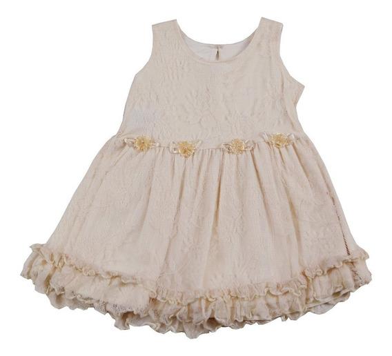 Roupas Infantil Vestido Infantil Renda Tamanho M Para Bebê