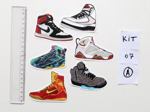 new styles 0c905 72f45 Nike Air Jordan Retro Adesivo Exclusivo 1 2 3 4 5 6