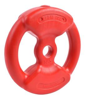 Discos Pesas Sol Recubiertos 5 Kg Gym Sport Maniac Fitness