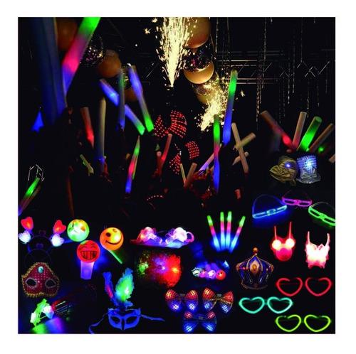 Imagen 1 de 10 de Cotillon Luminoso Combo Fiesta 230 Art Carioca Led +silbatos