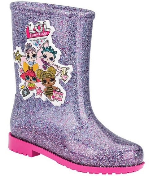 Bota Galocha Infantil Lol Colors Grendene Kids 21966