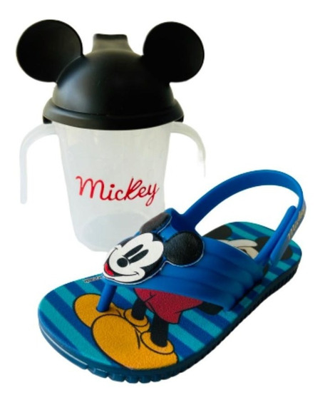 Sandália Masculina Infantil Disney Mickey Azul