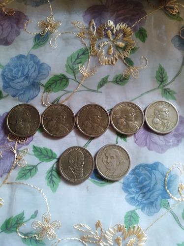 Monedas Antiguas  Un Dólar Año 2000 Y 1877, 1881, 1789, 1797