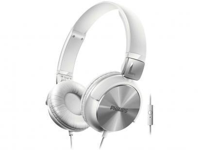Fone De Ouvido Philips Branco Com Microfone Bass Shl3165