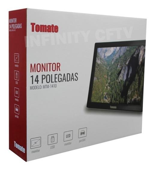 Tv Monitor Digital 14 Polegadas Tomate Mtm-1410