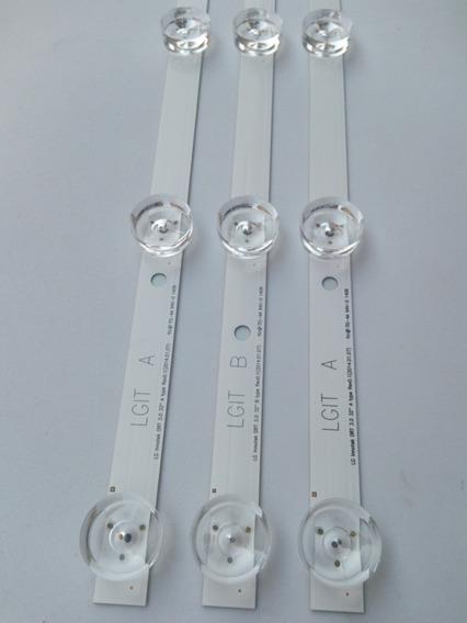 Kit Novo 3 Barra Led Lg 32lb550b 32lb560b 32lb570b 32lb580b