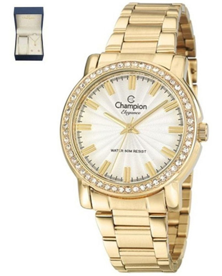 Relógio Champion Feminino + Semi Jóia Cn27250w + Nota Fiscal