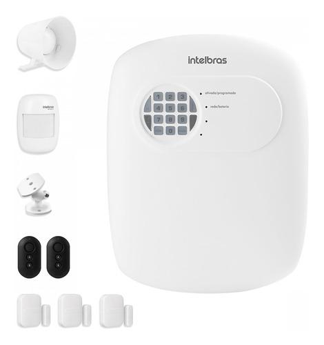Imagem 1 de 7 de Kit Alarme Intelbras Anm 3004 St 4 Sensor Discadora S Fio Tf