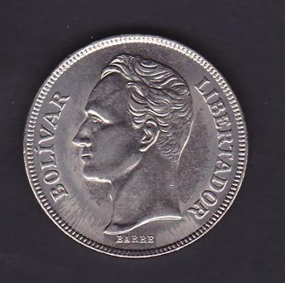 Moneda 5 Bolívares 1973-1977