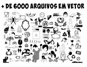 Imagens Vetor Coreldraw Estampas Camisetas Sublimação +6000