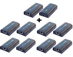 Kit Extensor Hdmi Até 120m Unico Cabo + 8 Receptores Extras
