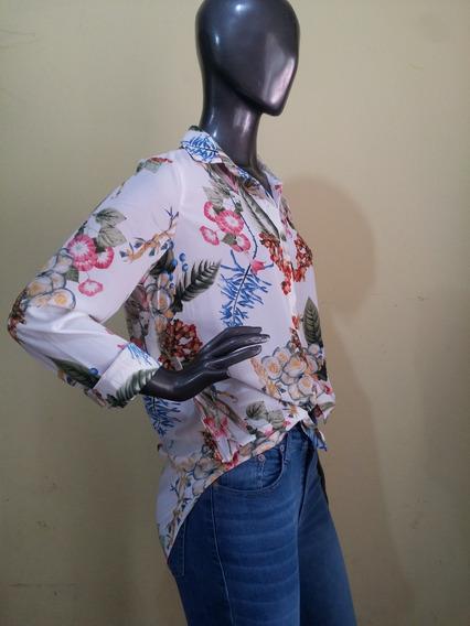 Camisa Largas Estampa Flores St Marie- Ultima Moda