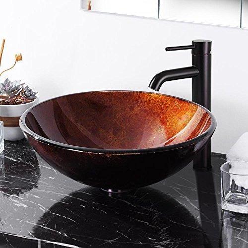 Aquaterior Lavabo Redondo De Cristal Templado Diseño De Bu