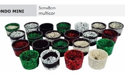 10 Vasos P Suculenta 5 X 8 De Cores Sortidas Em Polietileno