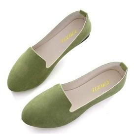 Slduv Flats Zapatos De Ballet Planos Comodos Para Damas Army
