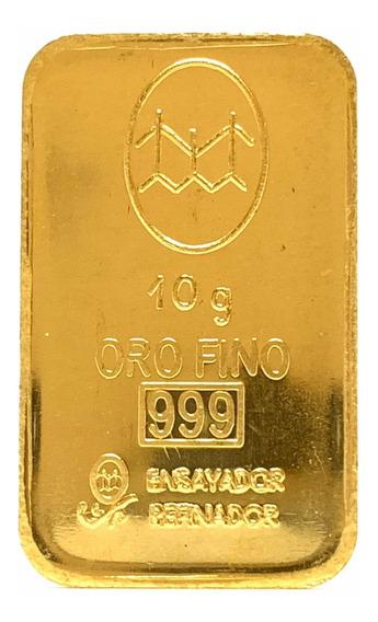 Lingote 10 Gramos De Oro 24kt. Fino 999