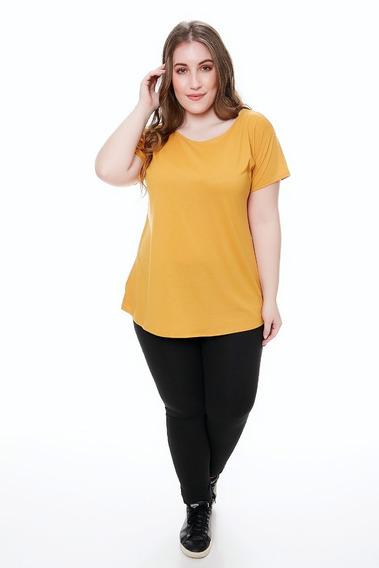 3 Remera Mujer Lisa Manga Corta De Modal Spun Talle Grande