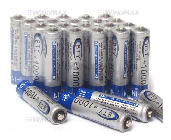 Pila Bateria Recargable Aaa 1000mah Ni Mh 1.2v Marca Bty Par