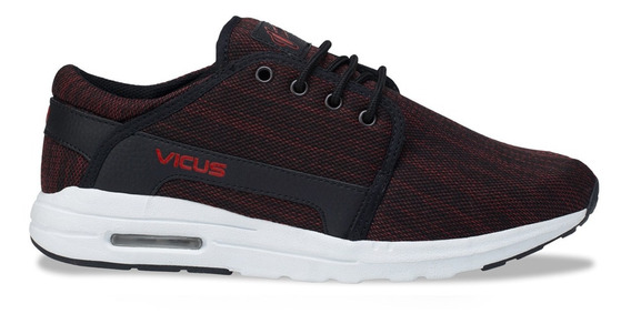 Zapatillas Vicus Crossed Eva Air Mesh Negro Rojo Rayado