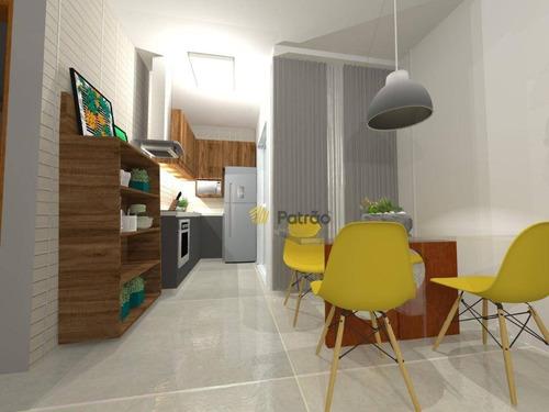 Apartamento À Venda, 56 M² Por R$ 359.000,00 - Vila Bastos - Santo André/sp - Ap2833