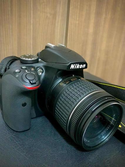 Câmera Nikon D3400 + Cartão Sd 64gb + Bolsa + Tripé