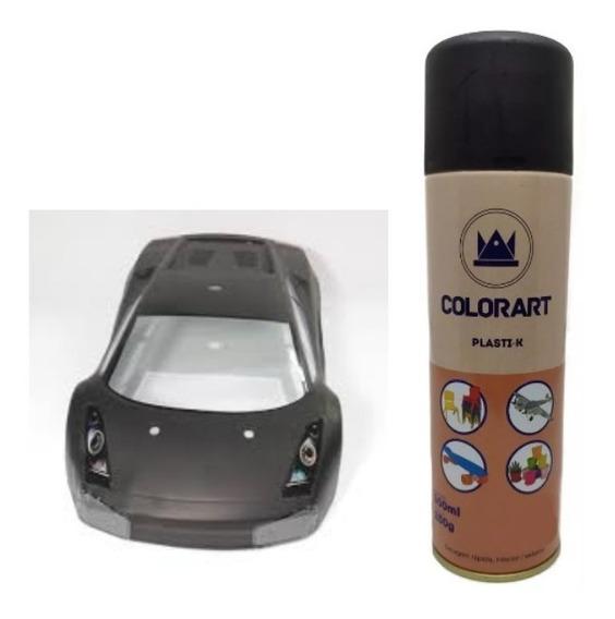 Tinta Spray Modelismo Plasti-k Preto Fosco Colorart