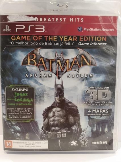 Jogo Ps3 Batman Arkham Origins Sem Riscos Com Manual