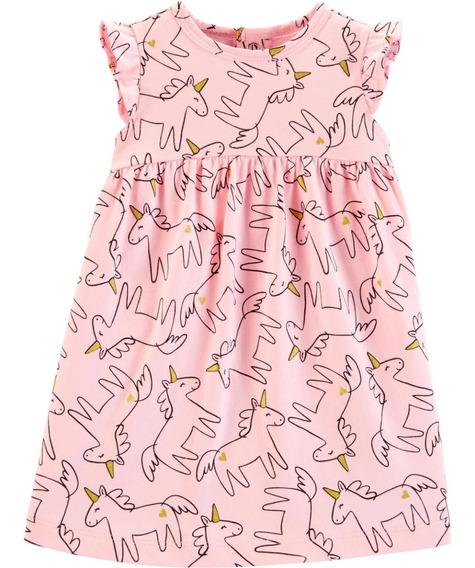 Vestido Con Calzon Cubre Pañal Carters Unicornio Niña Bebe