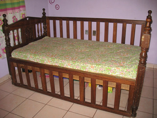 Cuna Para Bebes De Madera Fina Parota Y Primavera