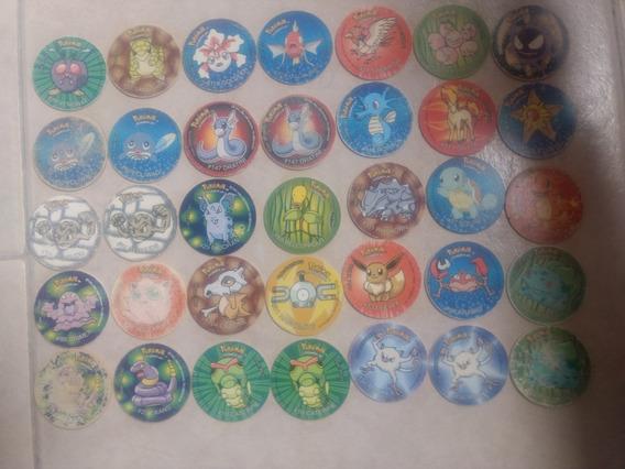 Lote 141 Tazos De Pokémon 1 2 3 2d 4 Lenticular Buen Estado