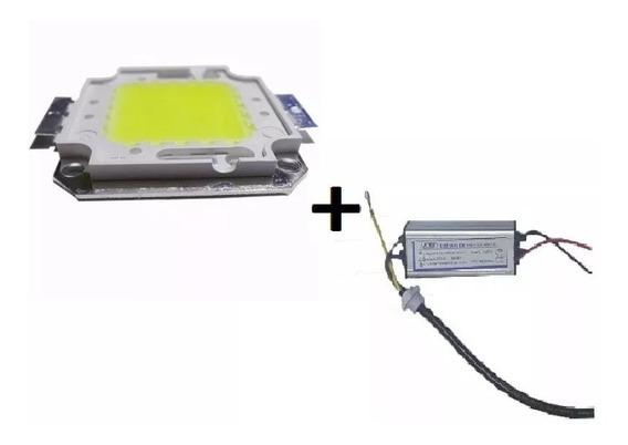 Chip Led Verde 50w Reposição Refletor + Driver Reator 50w