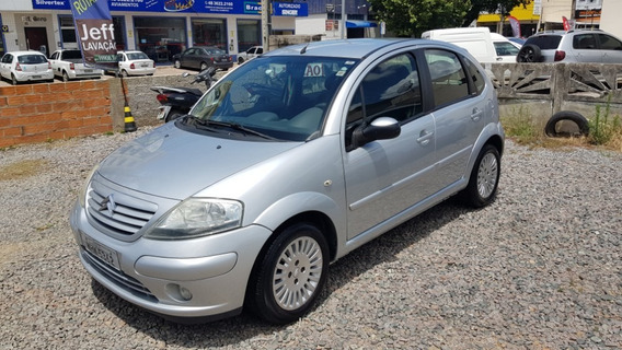 Citroen C3 2007 Exclusive + Air Bag + Abs Motor 1.6 Prata