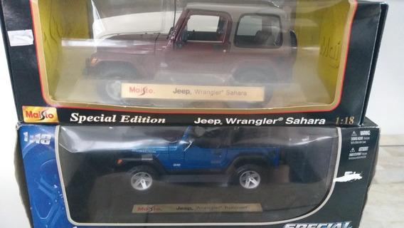 Lote De 2 Miniaturas Em Escala 1/18 De Jeep Wrangler