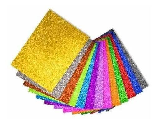 Cartulina Glitter Brillo Super 50x35 250gr Por Unidad